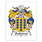 Ontiveros Family Crest Small Poster