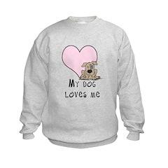 My Dog Loves Me Sweatshirt