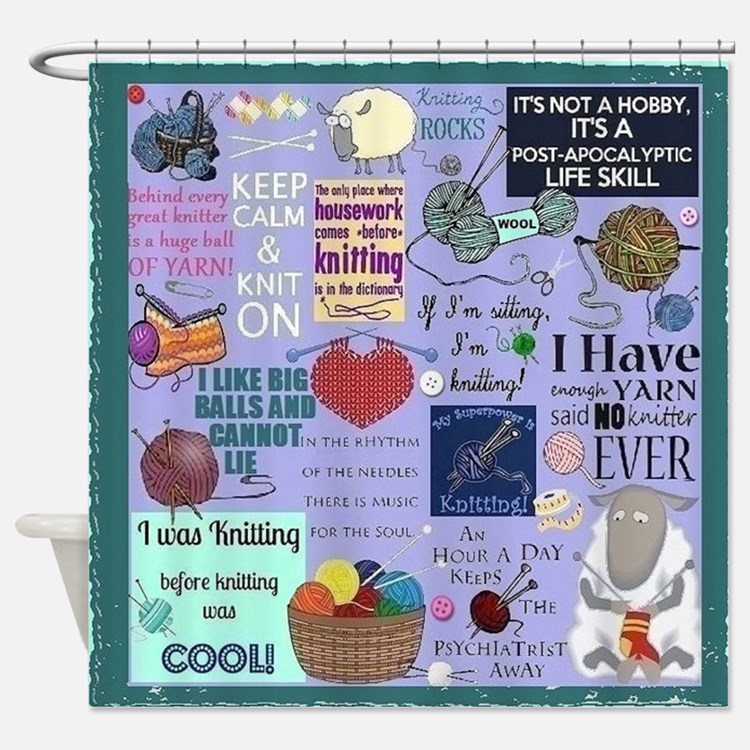 Knitters Shower Curtain