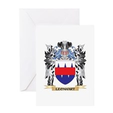 Leonhart Coat of Arms - Family Cres Greeting Cards
