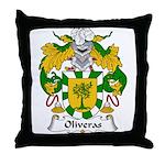 Oliveras Family Crest Throw Pillow