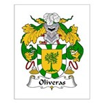 Oliveras Family Crest Small Poster