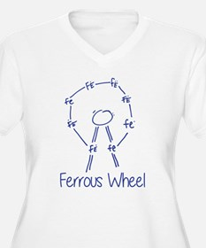 Ferrous Wheel Chemistry Plus Size T-Shirt