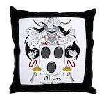 Olivas Family Crest Throw Pillow