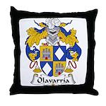 Olavarria Family Crest Throw Pillow