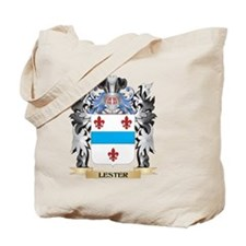 Lester Coat of Arms - Family Crest Tote Bag