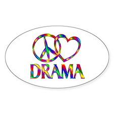 Peace Love Drama Decal