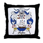 Olalde Family Crest Throw Pillow