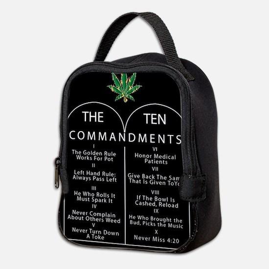 The Ten Commandments of Pot Neoprene Lunch Bag