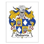 Olabarria Family Crest Small Poster