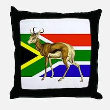 South Africa Springbok Flag Throw Pillow