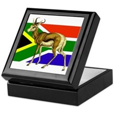 South Africa Springbok Flag Keepsake Box
