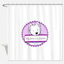 KiniArt Westie Bestie Shower Curtain