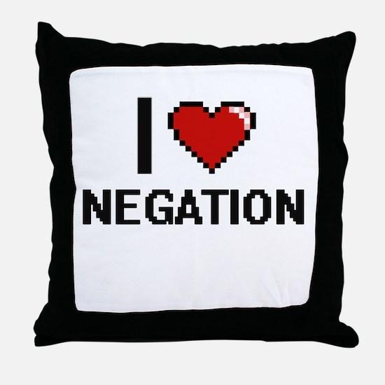 I Love Negation Throw Pillow