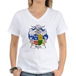 Noves Family Crest Women's V-Neck T-Shirt