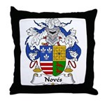 Noves Family Crest Throw Pillow