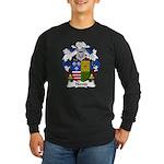 Noves Family Crest Long Sleeve Dark T-Shirt