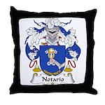 Notario Family Crest  Throw Pillow