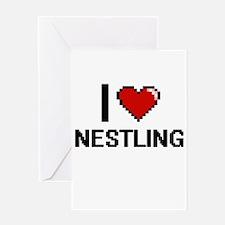 I Love Nestling Greeting Cards