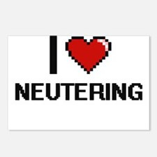 I Love Neutering Postcards (Package of 8)