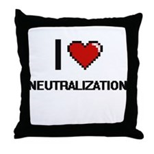 I Love Neutralization Throw Pillow