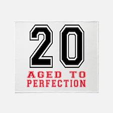20 Aged To Perfection Birthday Desig Throw Blanket