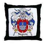 Negrete Family Crest Throw Pillow