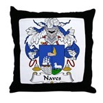 Naves Family Crest Throw Pillow