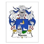 Naves Family Crest Small Poster