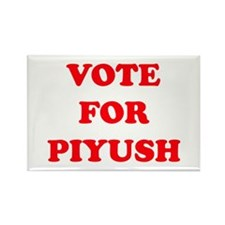 VOTE FOR PIYUSH Rectangle Magnet