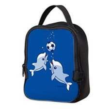 Dolphins Neoprene Lunch Bag