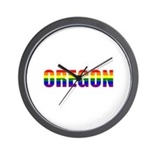 Oregon Pride Wall Clock