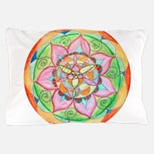 Orange Mandala Pillow Case
