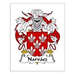 Narvaez Family Crest Small Poster