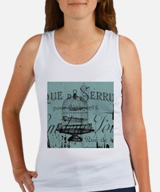 french scripts vintage birdcage Tank Top