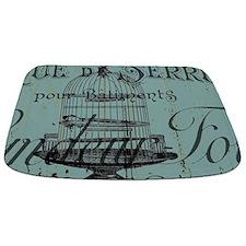 french scripts vintage birdcage Bathmat