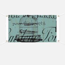 french scripts vintage birdcage Banner