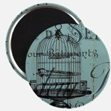 french scripts vintage birdcage Magnets