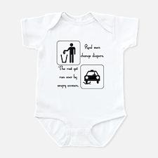 Real Men Change Diapers Infant Bodysuit