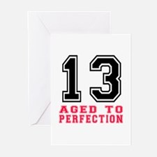 13 Aged To Perfection Bi Greeting Cards (Pk of 10)