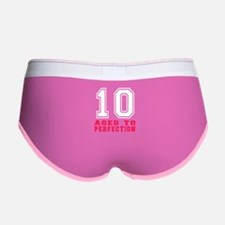 10 Aged To Perfection Birthday D Women's Boy Brief