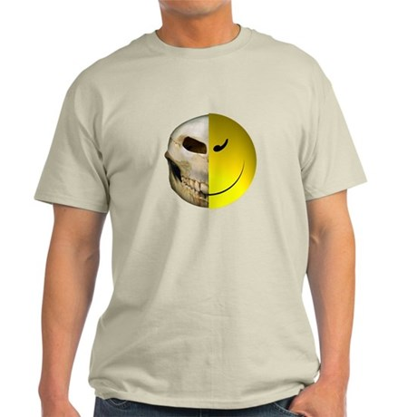 Half Smiley Skull Light T-Shirt