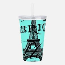 turquoise eiffel tower Acrylic Double-wall Tumbler