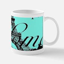 turquoise eiffel tower paris Mugs