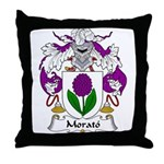 Morato Family Crest Throw Pillow