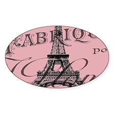 modern girly pink paris Decal