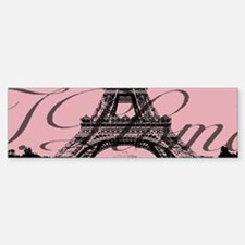 modern girly pink paris Bumper Bumper Bumper Sticker