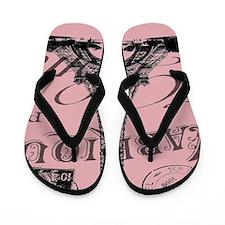 modern girly pink paris Flip Flops