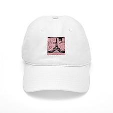 modern girly pink paris Baseball Cap