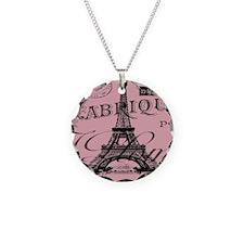 modern girly pink paris Necklace